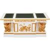 Bureau avec lions ailés style Empire en acajou blanc et doré Aboukir