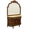 Console Louis XVI avec miroir en marqueterie Corcy