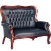 Canapé style anglais victorien en acajou Chesterfield vert Preston