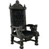 Trône baroque en acajou noir 174 cm Windsor