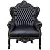 fauteuil-rococo-noir
