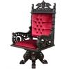 Fauteuil de bureau royal en acajou velours rouge Windsor