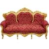 Canape-baroque-dore-rouge