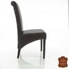 chaises-colonial-cuir-marron-a