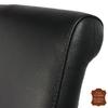 Chaise-cuir-pleine-fleur-noir-e