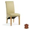 Chaise-cuir-vachette-beige