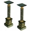 Paire de colonnes en marbre vert 100 cm Chamilly