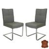 chaises-cuir-vachette-gris