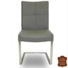 chaises-cuir-vachette-gris-a