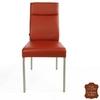Chaise-cuir-veritable-rouge-a