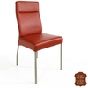 Chaise-cuir-veritable-rouge
