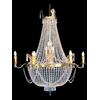 Lustre montgolfière en cristal style Napoléon 16 feux Tuileries