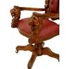 fauteuil-bureau-acajou-lions