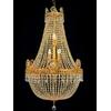 Lustre montgolfière en cristal style Empire Ecouen