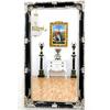 Miroir en bois noir et argenté 210x120cm Langeais