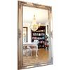 Miroir baroque en bois argenté 214x120cm Creuilly