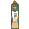 Miroir néoclassique en bois vert et doré 178x58cm Guernon