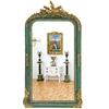 Miroir baroque en bois vert doré 160x88cm Ranville