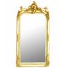 Miroir baroque avec chérubins en bois blanc et doré 160x85cm Prat