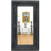 Miroir baroque 160x86cm en bois noir Avrilly