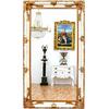Grand miroir baroque 210x120cm en bois blanc doré Saverne