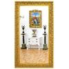 Miroir baroque en bois doré 210x120cm Montaigut