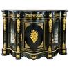 Buffet en hêtre noir et bronze style Napoléon III Pierrefonds