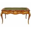 Bureau style Louis XV en marqueterie noyer amarante Tournelle