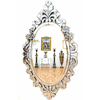 Miroir ovale vénitien 140x80cm style baroque Traviata