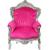 Fauteuil-baroque-rose-argent