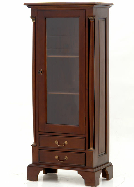 biblioth que vitr e style empire en acajou massif meubles de style biblioth ques tag res. Black Bedroom Furniture Sets. Home Design Ideas