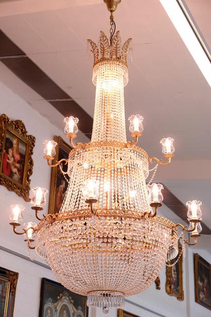 lustre montgolfi re d 39 op ra en cristal 48 feux chenonceau. Black Bedroom Furniture Sets. Home Design Ideas