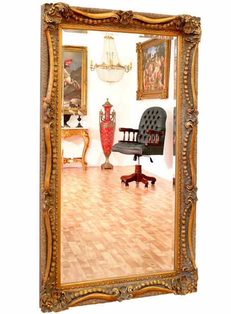 miroir baroque cadre en bois dor 138x78 cm miroirs. Black Bedroom Furniture Sets. Home Design Ideas
