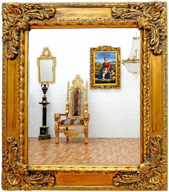 miroir baroque cadre en bois dor 82x72 cm miroirs