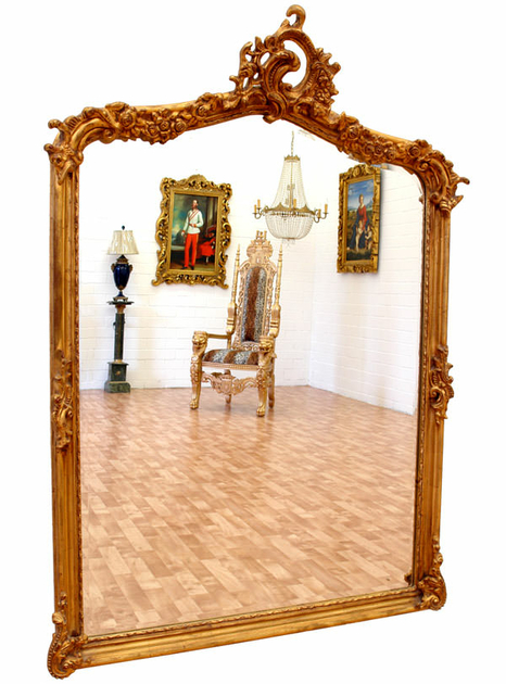 miroir baroque cadre en bois dor 146x102 cm miroirs baroque classic stores. Black Bedroom Furniture Sets. Home Design Ideas