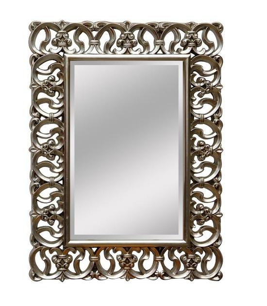 miroir baroque cadre en bois argent 128x92 cm miroirs
