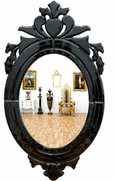 miroir baroque v nitien cadre noir miroirs baroque classic stores. Black Bedroom Furniture Sets. Home Design Ideas