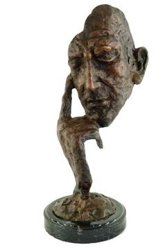 Statue-bronze-masque-BR013