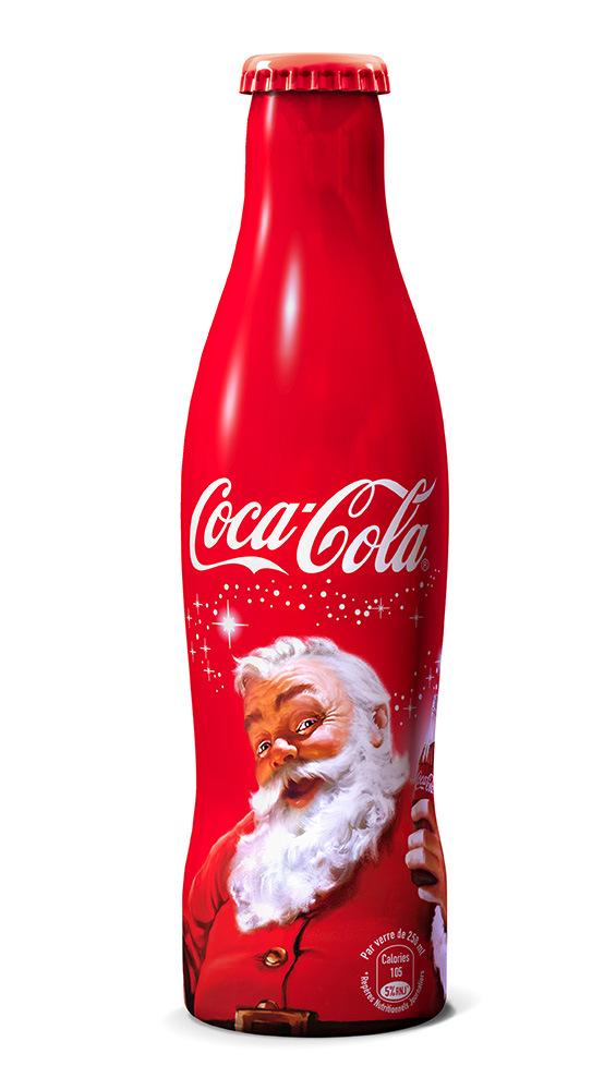 bouteille de coca cola collector pere noel