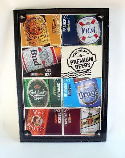 tableau de d coration de marque de biere pour collectionneur ou amateur de marque biere. Black Bedroom Furniture Sets. Home Design Ideas
