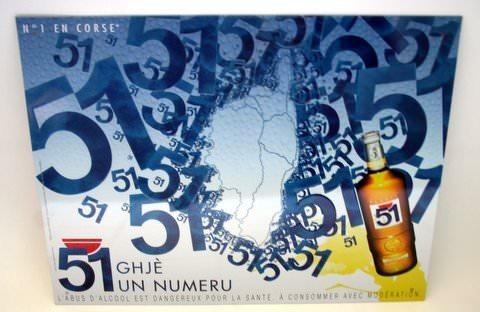 Pour une d coration de bar plaque 51 le vrai pastis de for Verre 51 piscine design tabac