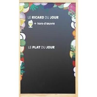 tableau ardoise menu du jour ricard d corations ardoise de bar leszitounes. Black Bedroom Furniture Sets. Home Design Ideas