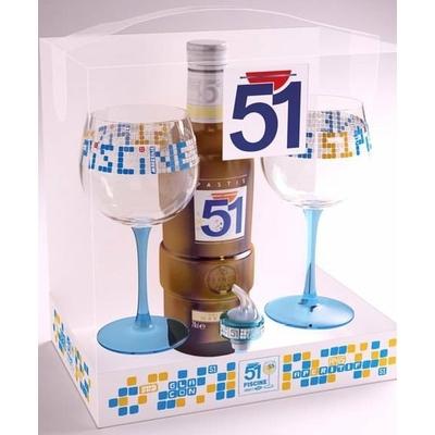 Le coffret pastis 51 desgn by tabas pour un cadeau ou for Verre 51 piscine design tabac