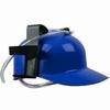 casque à boisson bleu