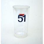 Verre tube 51 plastique