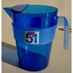 Carafe 51 plastique bleu