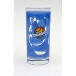 Verre orangina bleu
