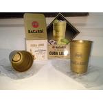 Verre bacardi metal gold