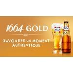 Verre à biere 1664 gold 0.25 cl