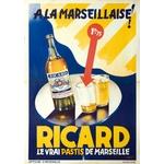 Affiche ricard le vrai pastis à la Marseillaise